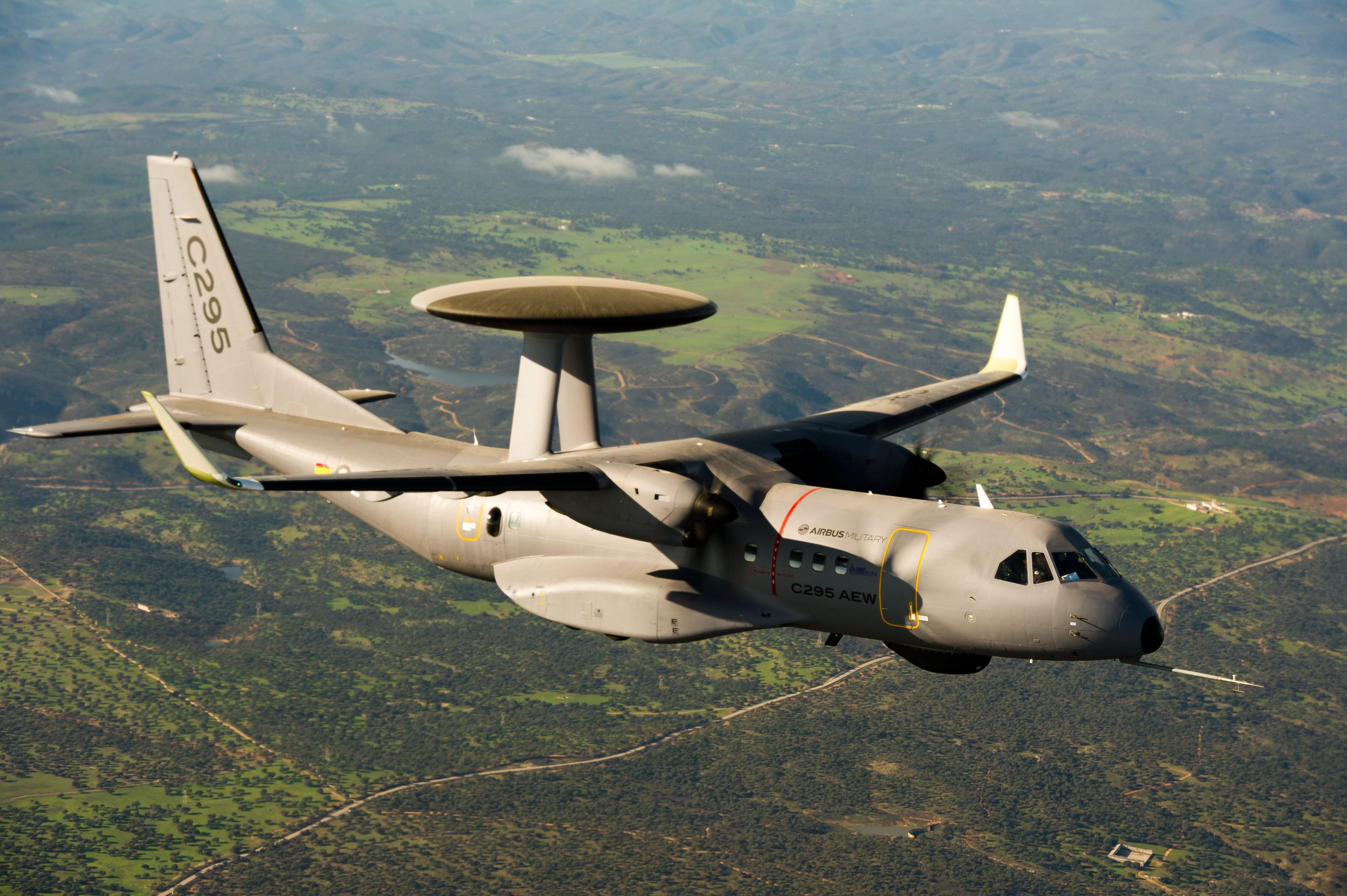 Airbus prueba C-295 AEW equipados con winglets
